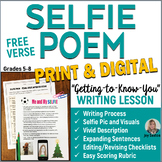 Back to School SELFIE Free Verse Poem  5-8 Writing
