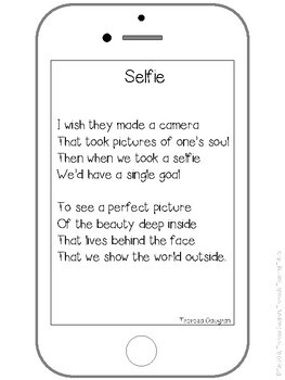 Selfie Poem and Activities to Encourage Students to Value What's Inside