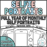 Selfie Portraits {No Prep Monthly Self Portraits For All Year}