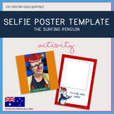 Selfie Poster Template - The Surfing Penguin AR