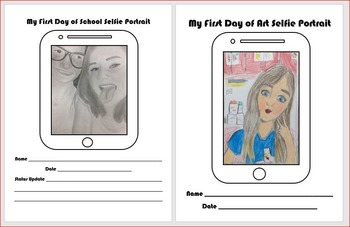 Selfie Self Portrait Template for the First Day of School