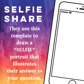 Selfie Share - All About Me - Exit Slip - Output Activity
