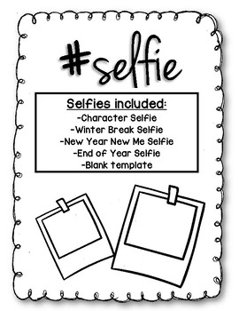 selfie template by miss b and grade 3 teachers pay teachers