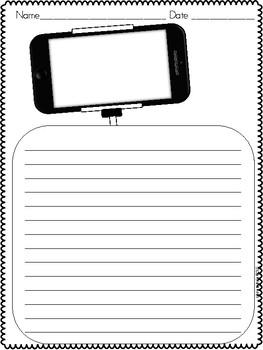 Selfie Writing Paper FREEBIE