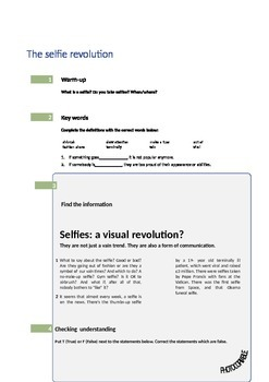 Selfies -learning the present perfect tense