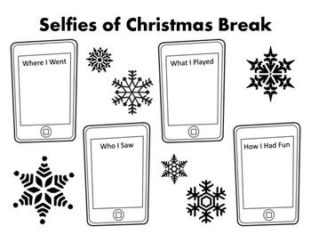 Selfies of Christmas Break and Winter Break in Review Art & Writing