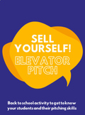 Sell Yourself! Elevator Pitch - Back to School and Ice Breaker Activity