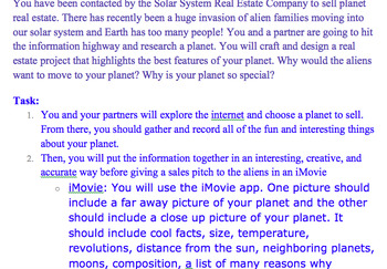 Sell a Planet iMovie Project