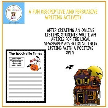 Sell this Haunted House Writing Activities