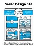 Seller Design Clipart Bundle: Bright Blue [Ashley Hughes Design]
