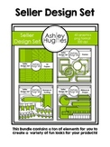 Seller Design Clipart Bundle: Green {A Hughes Design}