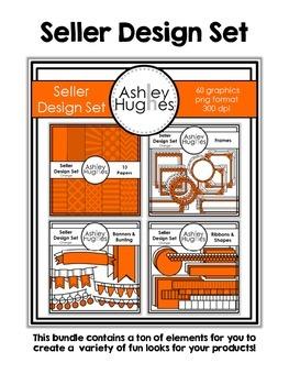 Seller Design Clipart Bundle: Orange {A Hughes Design}