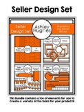 Seller Design Clipart Bundle: Orange {A Hughes Design}