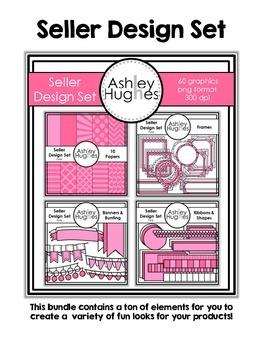 Seller Design Bundle: Pink {Graphics for Commercial Use}