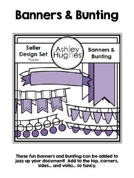 Seller Design Clipart Bundle: Purple {A Hughes Design}