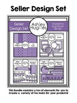 Seller Design Bundle: Purple {Graphics for Commercial Use}