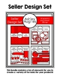 Seller Design Clipart Bundle: Red {A Hughes Design}