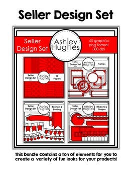 Seller Design Bundle: Red {Graphics for Commercial Use}