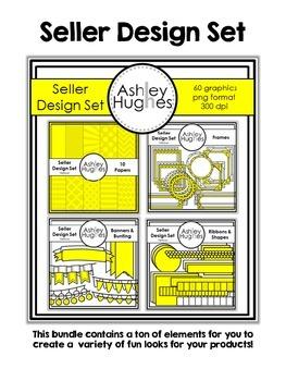 Seller Design Clipart Bundle: Yellow {A Hughes Design}
