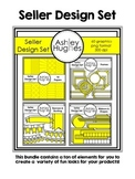 Seller Design Clipart Bundle: Yellow {A Hughes Design}