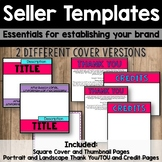 Seller Essential Templates - Square Cover, Thumbnails, Thank You, TOU, & Credits