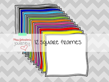 Seller Kit: Digital Papers, Frames, Writing Instrument Clipart {Rainbow Colors}