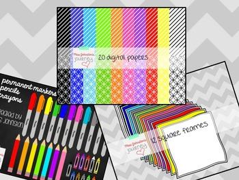 Seller Kit: Digital Papers, Frames, Writing Instrument Cli