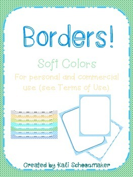 Seller Pack of CUTE Borders! Soft Colors and for Commercial Use
