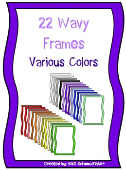 Seller Pack of CUTE Wavy Borders for Commercial Use
