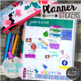 Seller Planner Stickers: Social Media Pack