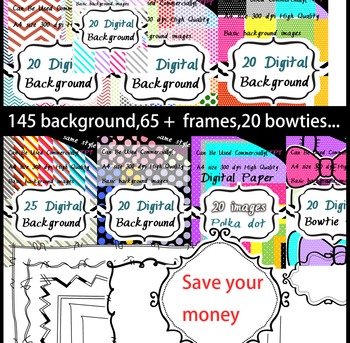 Seller's Bundle -for Commercial Use digital paper - artclip- 300dpi png images