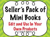 Seller's Pack of Editable Mini Books for Commercial Use