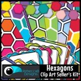 Hexagon Seller's Clip Art Kit