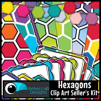 Hexagon Seller's Clip Art Kit