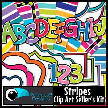 Seller's Clip Art Kit (Stripes)