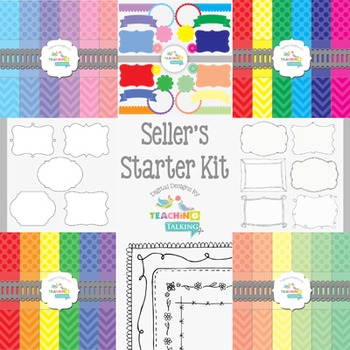 TPT Sellers Starter Kit - backgrounds, frames, papers and more!
