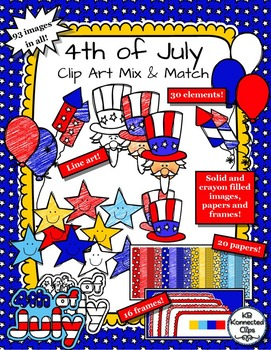 Sellers Tool Kit - 4th of July Mix and Match Clip Art Collection