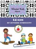 Seller's toolkit: Diverse ethnicities in outdoor winter ac