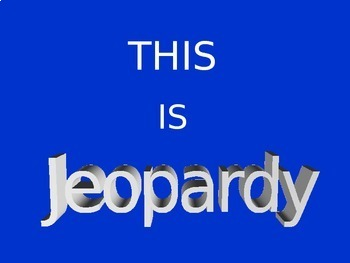 Selling Unit Review Jeopardy Game
