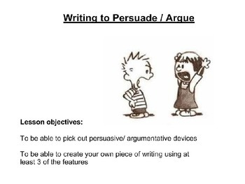 Selling a house - Persuausive writing