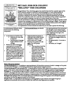 Selling the Colonies: A Project-Based Learning Activity