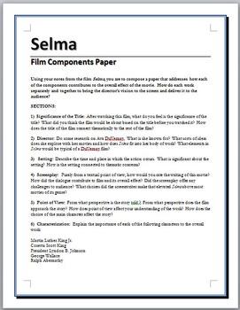 Selma - Film analysis paper