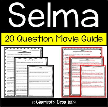 Selma Worksheets Teaching Resources Teachers Pay Teachers