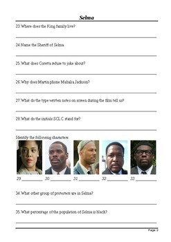 Selma Movie Viewing Questions