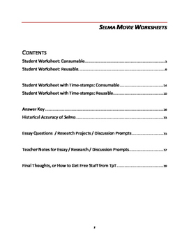 movie worksheets essay questions and discussion prompts selma movie worksheets essay questions and discussion prompts