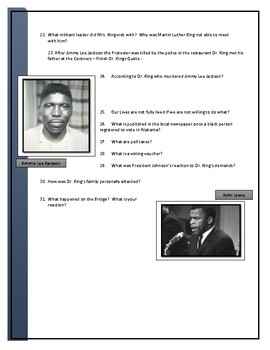 Selma Movie questions for