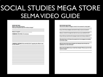 Selma Video Guide Civil Rights Movement 1960's Malcolm X Martin Luther King