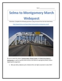 Selma to Montgomery March- Webquest and Video Analysis with Key