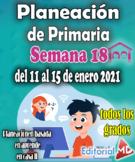Semana 18 – Planeación de primaria del 11 al 15 de enero 2021 (Aprende en casa 2