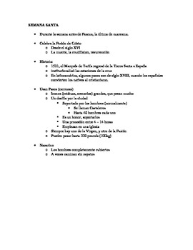 Semana Santa - Notes